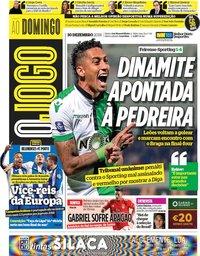 capa Jornal O Jogo de 30 dezembro 2018