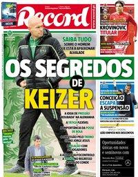 capa Jornal Record de 5 dezembro 2018