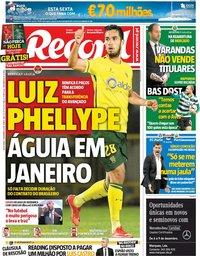 capa Jornal Record de 7 dezembro 2018