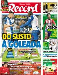 capa Jornal Record de 8 dezembro 2018