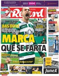 capa Jornal Record de 10 dezembro 2018