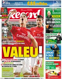 capa Jornal Record de 13 dezembro 2018