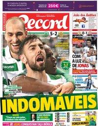 capa Jornal Record de 17 dezembro 2018