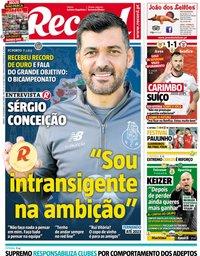 capa Jornal Record de 29 dezembro 2018