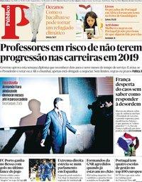 capa Público de 3 dezembro 2018