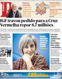 capa Público de 14 dezembro 2018