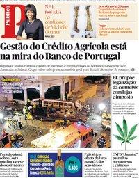 capa Público de 15 dezembro 2018