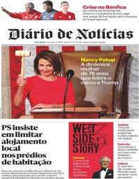 capa Diário de Notícias de 4 janeiro 2019