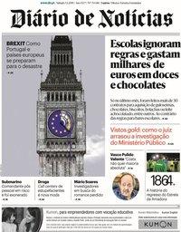 capa Diário de Notícias de 5 janeiro 2019