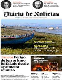 capa Diário de Notícias de 8 janeiro 2019