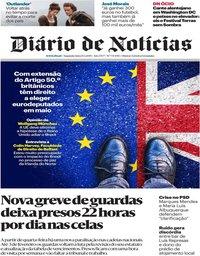 capa Diário de Notícias de 14 janeiro 2019
