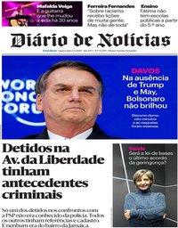 capa Diário de Notícias de 23 janeiro 2019