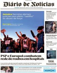 capa Diário de Notícias de 26 janeiro 2019