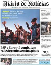 capa Diário de Notícias de 27 janeiro 2019