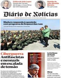 capa Diário de Notícias de 31 janeiro 2019