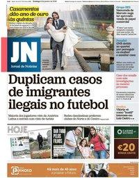 capa Jornal de Notícias de 6 janeiro 2019