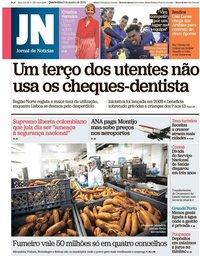 capa Jornal de Notícias de 9 janeiro 2019