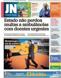 capa Jornal de Notícias de 11 janeiro 2019