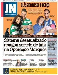 capa Jornal de Notícias de 12 janeiro 2019