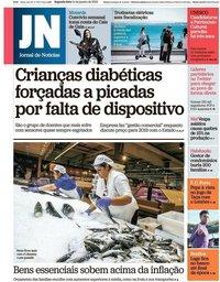 capa Jornal de Notícias de 14 janeiro 2019