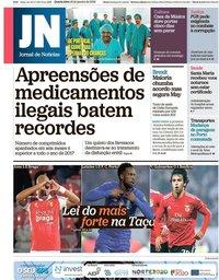 capa Jornal de Notícias de 16 janeiro 2019