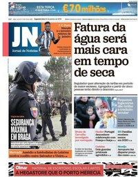 capa Jornal de Notícias de 21 janeiro 2019