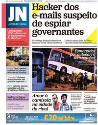 capa Jornal de Notícias de 22 janeiro 2019