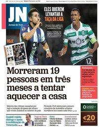 capa Jornal de Notícias de 26 janeiro 2019
