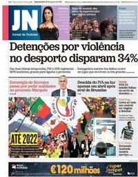 capa Jornal de Notícias de 28 janeiro 2019