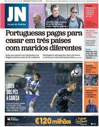 capa Jornal de Notícias de 31 janeiro 2019