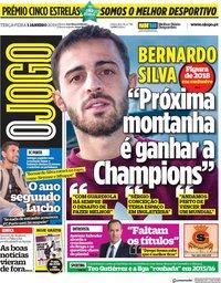 capa Jornal O Jogo de 1 janeiro 2019