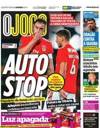 capa Jornal O Jogo de 3 janeiro 2019