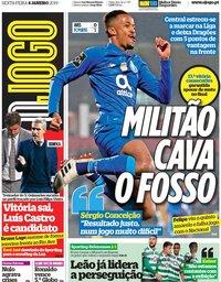 capa Jornal O Jogo de 4 janeiro 2019