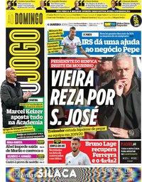 capa Jornal O Jogo de 6 janeiro 2019