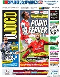 capa Jornal O Jogo de 7 janeiro 2019