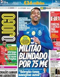 capa Jornal O Jogo de 10 janeiro 2019