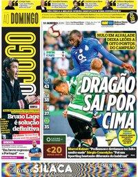 capa Jornal O Jogo de 13 janeiro 2019