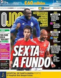 capa Jornal O Jogo de 18 janeiro 2019