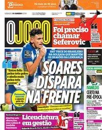 capa Jornal O Jogo de 19 janeiro 2019