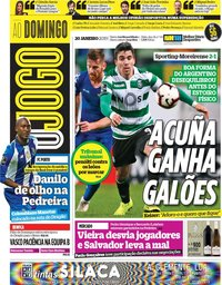 capa Jornal O Jogo de 20 janeiro 2019