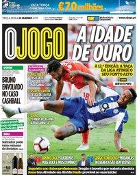 capa Jornal O Jogo de 22 janeiro 2019
