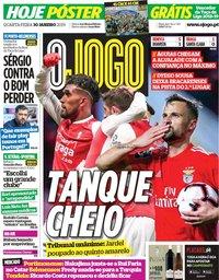 capa Jornal O Jogo de 30 janeiro 2019