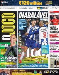 capa Jornal O Jogo de 31 janeiro 2019