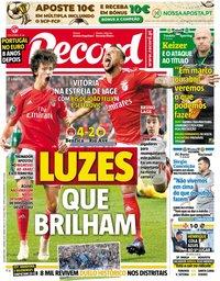 capa Jornal Record de 7 janeiro 2019