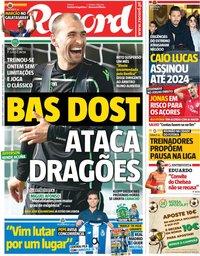 capa Jornal Record de 9 janeiro 2019