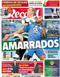 capa Jornal Record de 13 janeiro 2019