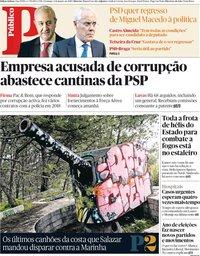 capa Público de 6 janeiro 2019