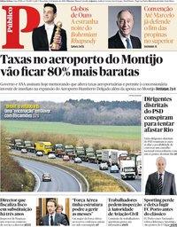 capa Público de 8 janeiro 2019