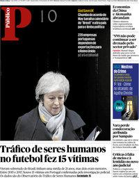 capa Público de 16 janeiro 2019
