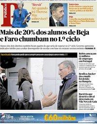 capa Público de 17 janeiro 2019